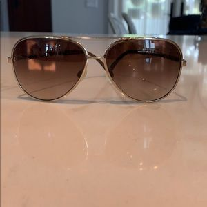 CHANEL Gradient Tint Aviator Sunglasses